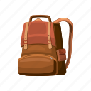 back, backpack, bag, baggage, cartoon, education, school icon