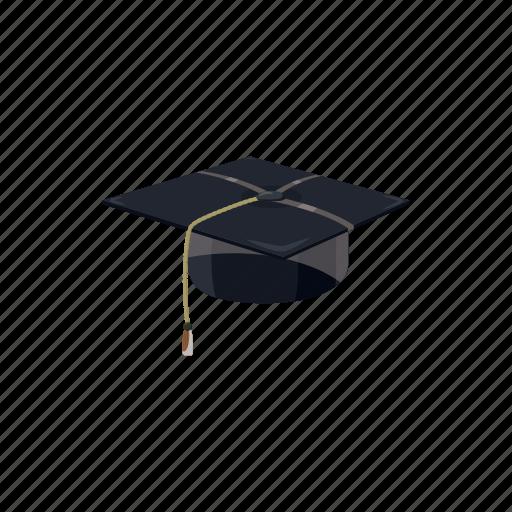 cartoon, education, graduation, hat, school, student, university icon