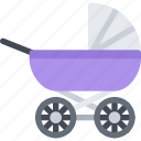 baby, carriage, child, childhood, kid icon