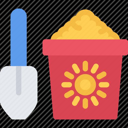 baby, bucket, child, childhood, kid, sand icon