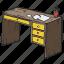 desk, desktop, office, school, working table icon
