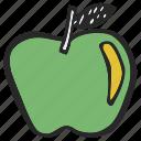 apple, fruit, lunch, ripe apple