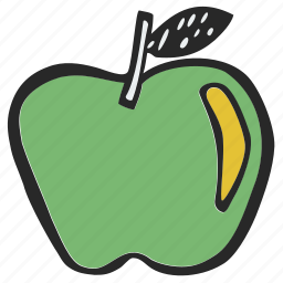 apple, fruit, lunch, ripe apple icon