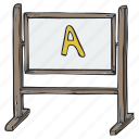 black board, board, plank, school board icon