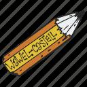 crayon, pen, pencil, wax crayon
