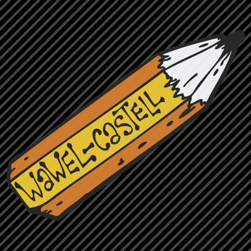 crayon, pen, pencil, wax crayon icon