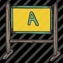 blackboard, board, plank, school board icon