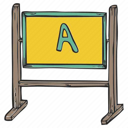 blackboard, board, plank, school board icon