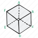 cube, geometry, math, polygon icon
