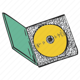 box, cd, cd box, disc, disk icon