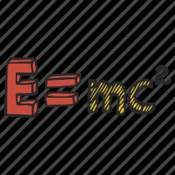 einstein, equation, formula, relativity, theory icon