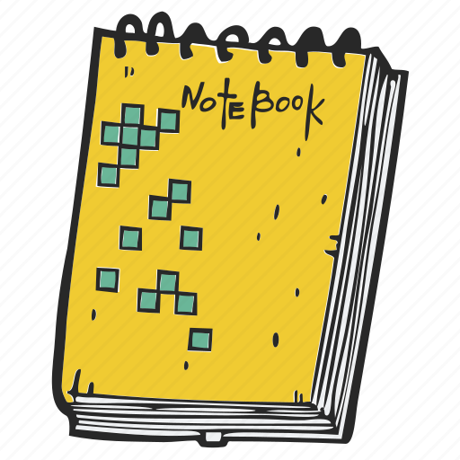 notebook, notepad, sketch, sketchbook, writing pad icon