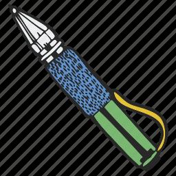 ballpen, biro, handle, pen icon