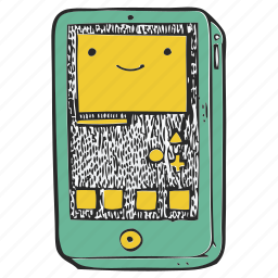 iphone, mobile, phone, smile, telephone icon