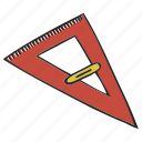 delta, line, ruler, triangle, trigon icon