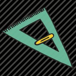 delta, line, ruler, triangle, trigon icon