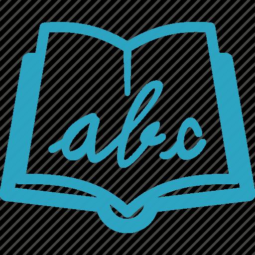 alphabet book, education, literature, reading icon