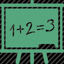 blackboard, education, math, presentation icon