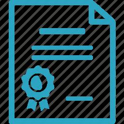 achievement, award, diploma, graduation icon