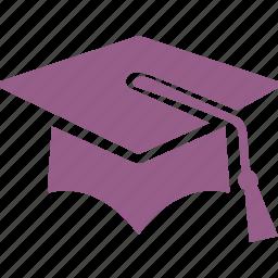 education, graduate, graduation, mortar board icon