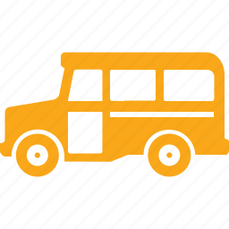 education, school bus, transport, vehicle icon