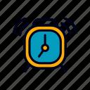 alarm, education, learning, school, student icon