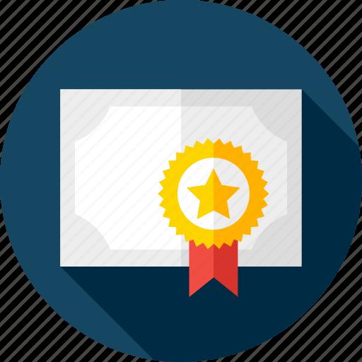 award, back to school, certificate, diploma, graduation, reward, school icon