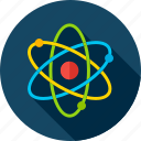 atom, back to school, education, molecule, research, school, science icon
