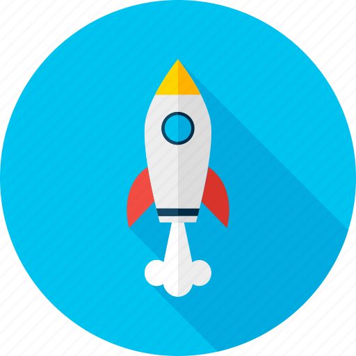 launch, missile, rocket, spaceship, start, start up, success icon