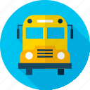 autobus, back to school, bus, college, education, school, transport icon