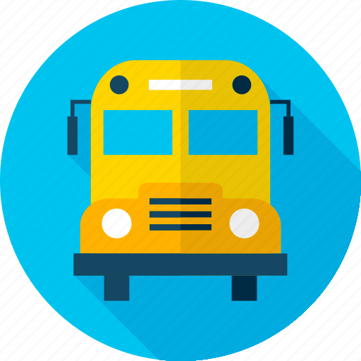autobus, back to school, bus, college, education, school, transport icon