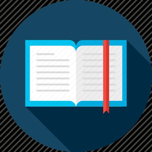book, bookmark, education, learn, paper, read, school icon