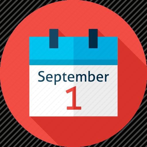 back to school, calendar, date, education, fall, school, september icon
