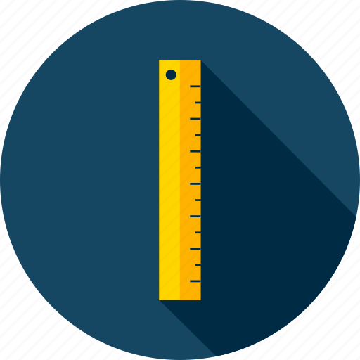 back to school, geometry, measure, meter, ruler, school, tool icon