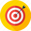 aim, arrow, goal, sport, success, target, targeting icon