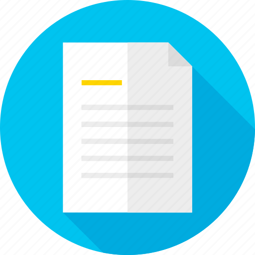 business, document, file, office, paper, school, write icon