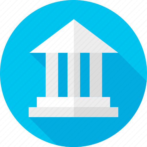 bank, building, construction, publish, school, structure icon