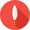 education, feather, knowledge, literature, school, wisdom, write icon