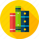 book, bookshelf, learn, library, literature, read, school icon