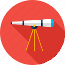 astronomy, education, glass, school, science, spyglass icon