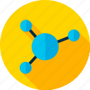 atom, education, molecule, physics, school, science, structure icon