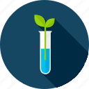 beaker, biology, chemistry, leaf, nature, school, science icon
