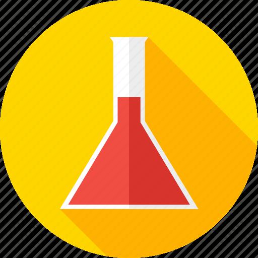 beaker, chemistry, glass, lab, medicine, school, science icon