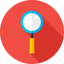 glass, loop, magnifying, search, seo, tool, zoom icon