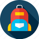 backpack, bag, knapsack, packsack, rucksack, school, schoolbag icon