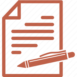 agreement, business, contract, document, education, file, school test icon