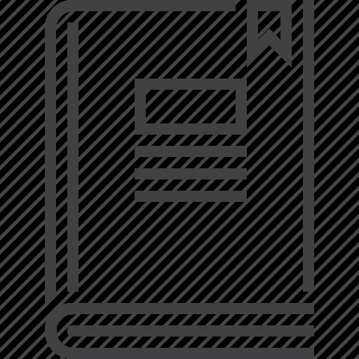 book, bookmark, notebook icon