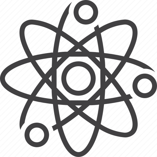 atom, molecule, science icon