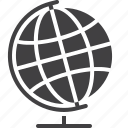 earth, geography, globe, school icon