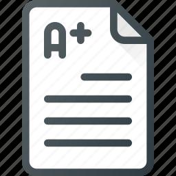 document, exam, school, studying, survey, test icon